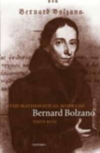 Ebook in inglese Mathematical Works of Bernard Bolzano Russ, Steve