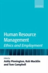 Foto Cover di Human Resource Management: Ethics and Employment, Ebook inglese di  edito da OUP Oxford