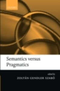 Foto Cover di Semantics versus Pragmatics, Ebook inglese di  edito da Clarendon Press