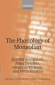 Ebook in inglese Phonology of Mongolian Franzen, Vivan , Karlsson, Anastasia , Svantesson, Jan-Olof , Tsendina, Anna