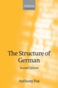 Ebook in inglese Structure of German Fox, Anthony
