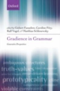Ebook in inglese Gradience in Grammar: Generative Perspectives -, -