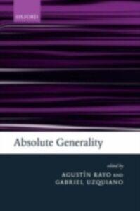 Ebook in inglese Absolute Generality -, -