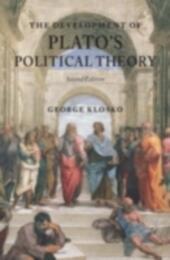 Development of Plato's Political Theory
