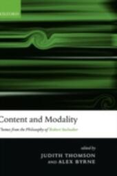 Content and Modality: Themes from the Philosophy of Robert Stalnaker