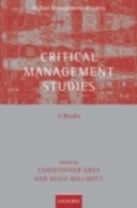 Ebook in inglese Critical Management Studies: A Reader -, -