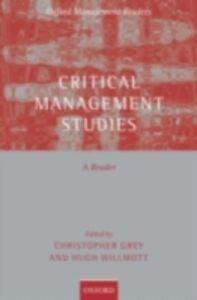 Foto Cover di Critical Management Studies: A Reader, Ebook inglese di  edito da OUP Oxford