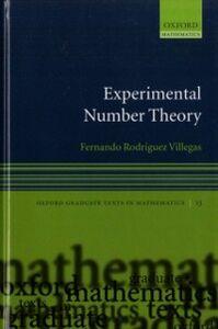Ebook in inglese Experimental Number Theory Villegas, Fernando Rodriguez