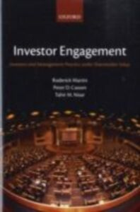 Foto Cover di Investor Engagement: Investors and Management Practice under Shareholder Value, Ebook inglese di AA.VV edito da OUP Oxford