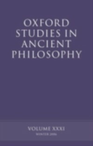Ebook in inglese Oxford Studies in Ancient Philosophy XXXI: Winter 2006 -, -