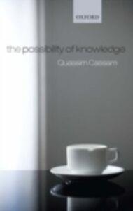 Ebook in inglese Possibility of Knowledge Cassam, Quassim