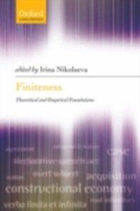 Foto Cover di Finiteness: Theoretical and Empirical Foundations, Ebook inglese di  edito da OUP Oxford