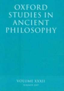 Ebook in inglese Oxford Studies in Ancient Philosophy XXXII: Summer 2007 -, -