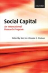 Social Capital An International Research Program