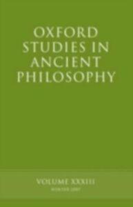 Foto Cover di Oxford Studies in Ancient Philosophy XXXIII, Ebook inglese di  edito da OUP Oxford