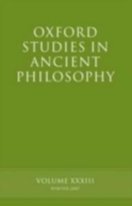 Ebook in inglese Oxford Studies in Ancient Philosophy XXXIII -, -