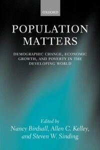Foto Cover di Population Matters: Demographic Change, Economic Growth, and Poverty in the Developing World, Ebook inglese di  edito da OUP Oxford