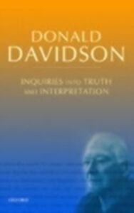 Ebook in inglese Inquiries into Truth and Interpretation: Philosophical Essays Volume 2 Davidson, Donald
