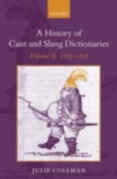 History of Cant and Slang Dictionaries