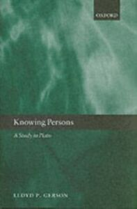 Ebook in inglese Knowing Persons: A Study in Plato Gerson, Lloyd P.