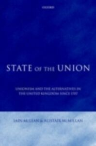 Ebook in inglese State of the Union McLean, Iain , McMillan, Alistair