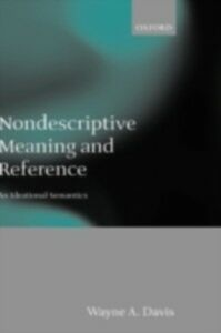 Ebook in inglese Nondescriptive Meaning and Reference: An Ideational Semantics Davis, Wayne A.