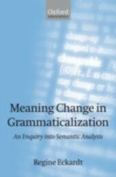 Meaning Change in Grammaticalization An Enquiry into Semantic Reanalysis