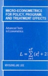 Ebook in inglese Micro-Econometrics for Policy, Program and Treatment Effects Lee, Myoung-jae