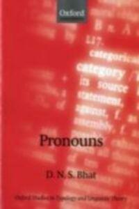Foto Cover di Pronouns, Ebook inglese di Darbhe Narayana Shankara Bhat, edito da OUP Oxford