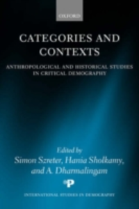 Ebook in inglese Categories and Contexts: Anthropological and Historical Studies in Critical Demography -, -