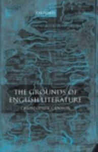 Ebook in inglese Grounds of English Literature Cannon, Christopher