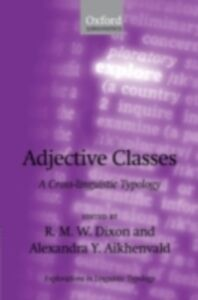 Ebook in inglese Adjective Classes: A Cross-linguistic Typology -, -