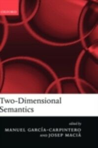 Foto Cover di Two-Dimensional Semantics, Ebook inglese di  edito da Clarendon Press