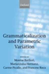 Ebook in inglese Grammaticalization and Parametric Variation -, -