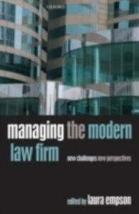 Foto Cover di Managing the Modern Law Firm: New Challenges, New Perspectives, Ebook inglese di  edito da OUP Oxford