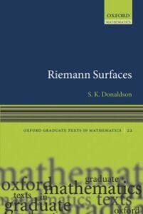 Foto Cover di Riemann Surfaces, Ebook inglese di Simon Donaldson, edito da OUP Oxford