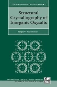 Ebook in inglese Structural Crystallography of Inorganic Oxysalts Krivovichev, Sergey V.