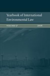 Ebook in inglese Yearbook of International Environmental Law : Volume 17 2006 -, -