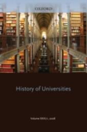 History of Universities: Volume XXIII/1