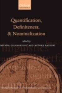 Foto Cover di Quantification, Definiteness, and Nominalization, Ebook inglese di  edito da OUP Oxford