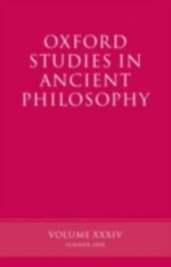 Ebook in inglese Oxford Studies in Ancient Philosophy Volume XXXIV DAVID, SEDLEY