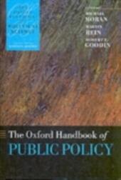 Oxford Handbook of Public Policy