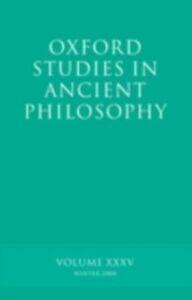 Ebook in inglese Oxford Studies in Ancient Philosophy XXXV: Winter 2008 -, -