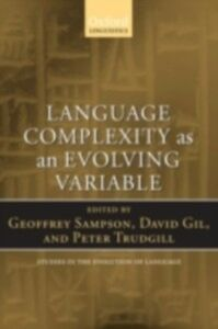 Ebook in inglese Language Complexity as an Evolving Variable GEOFFREY, SAMPSON