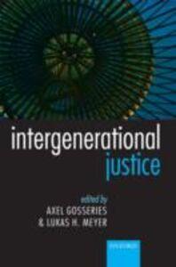 Foto Cover di Intergenerational Justice, Ebook inglese di  edito da OUP Oxford