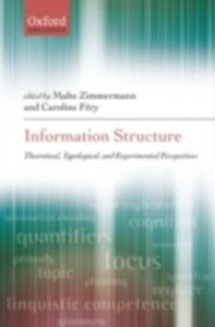 Ebook in inglese Information Structure: Theoretical, Typological, and Experimental Perspectives