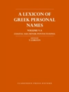 Ebook in inglese Lexicon of Greek Personal Names Corsten, T.