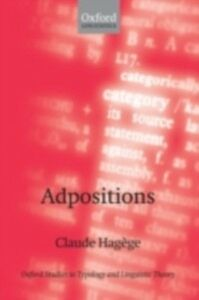 Ebook in inglese Adpositions Hag&egrave , ge, Claude