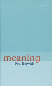 Ebook in inglese Meaning Horwich, Paul