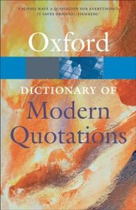 Foto Cover di Oxford Dictionary of Modern Quotations, Ebook inglese di  edito da OUP Oxford